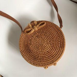 Handbags - Round Straw Summer Bag Bamboo Rattan